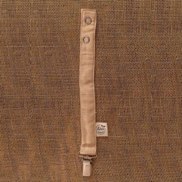 Attache-tétine coton bio GOTS teinture naturelle couleur Nude Lila's Essentials